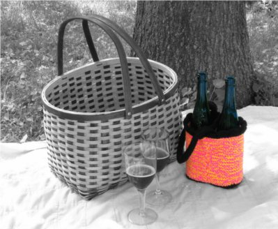 Summer Dream Wine Tote by: Color ME Crazy LLC