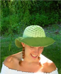 Avocado Brimmed Sun Hat by Color ME Crazy LLC