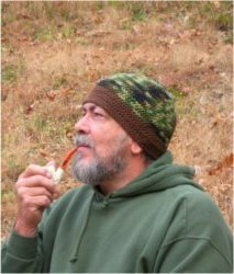 Dad's Hunting Camo & Brown Big Band Beanie by Color ME Crazy LLC