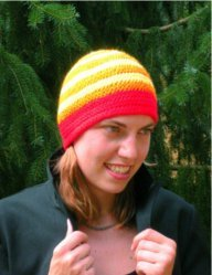 Passion Fire Big Band Beanie by Color ME Crazy LLC