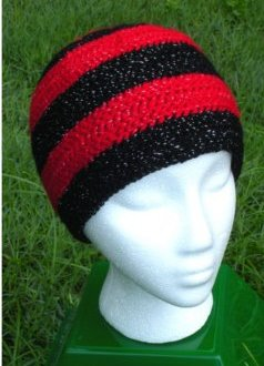 Sparkles: Red & Black Long Hat by Color ME Crazy LLC